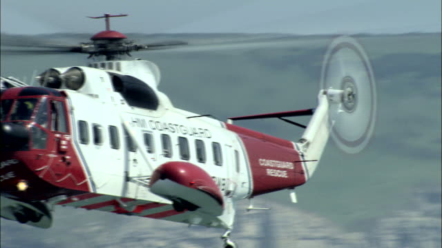 air sea rescue exercise near swanage - military helicopter stock videos and b-roll footage