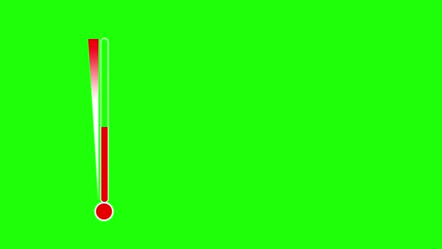 vídeos de stock e filmes b-roll de air temperature measuring instrument animation with green screen background. - moving up
