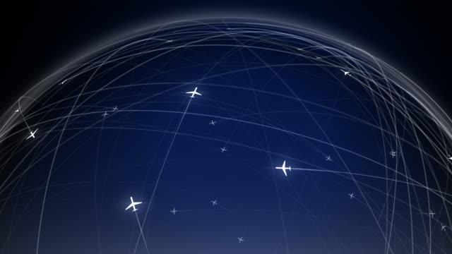 vídeos y material grabado en eventos de stock de animación de efectos visuales de red global de tráfico aéreo, hud - interfaz gráfica de usuario - vehículo aéreo