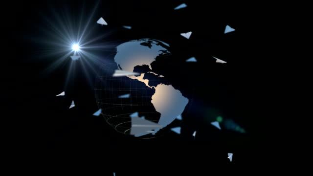 vídeos y material grabado en eventos de stock de transporte aéreo bucle - avión de papel