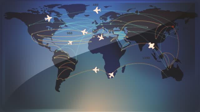 vídeos y material grabado en eventos de stock de animación de concepto de viaje aéreo / loopable 4k - torre de control de circulación aérea