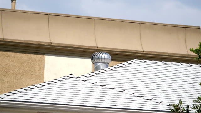 Air ventilator on the roof in 4K
