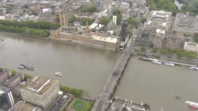 air views of extinction rebellion protests in central london england london westminster extinction rebellion protesters on westminster bridge /... - lambeth stock videos & royalty-free footage