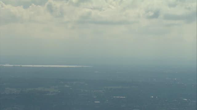 air views of london and world war ii flypast england london the oval cricket ground and central south london - war and conflict stock-videos und b-roll-filmmaterial