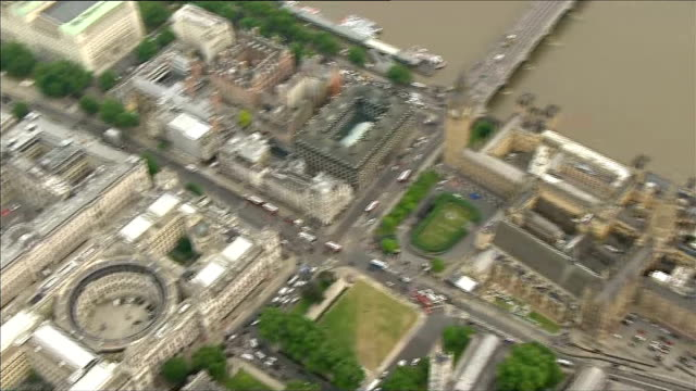 air views parliament and whitehall more aerials whitehall and treasury - finanzministerium stock-videos und b-roll-filmmaterial