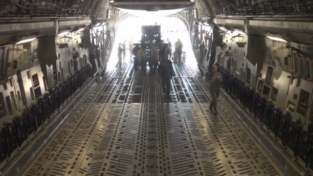 aircraft and cargo deploy to nellis air force base, nev., for red flag june 10 from aviano air base, italy. red flag is a realistic training exercise... - us airforce stock videos & royalty-free footage
