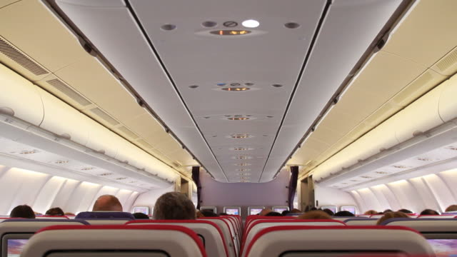 Aircraft cabin on the plane