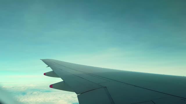 Vliegtuig cabine venster time-lapse