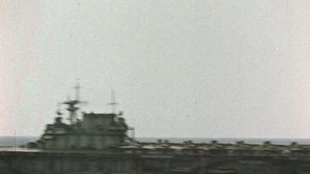 aircraft carrier bobbing on rough seas - mr_00072897 stock videos & royalty-free footage