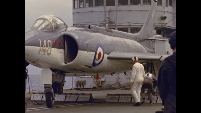 Aircraft carrier HMS Victorious fighter launch