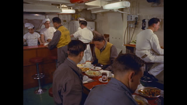 aircraft carrier hms victorious - cafeteria worker stock videos and b-roll footage