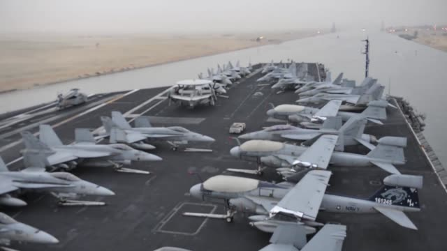 aircraft carrier uss nimitz timelapse transit of the suez canal footage of the complete transit - port said stock videos & royalty-free footage