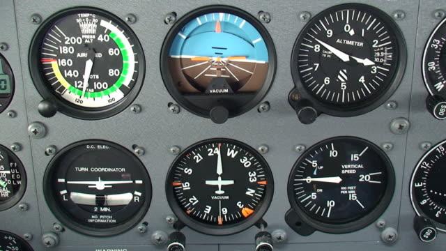 aircraft cockpit - cockpit stock videos & royalty-free footage