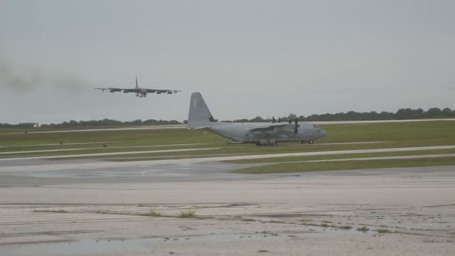 US aircraft land after conducting aerial training Sept 17 from Andersen Air Base Guam during Exercise Valiant Shield 2014 Valiant Shield is a...