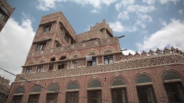 aircraft of the saudi led coalition hit the unesco listed old city of yemens rebel held capital sanaa on tuesday after the rebels fired a missile at... - yemen stock videos & royalty-free footage