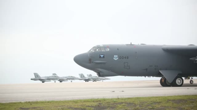 US aircraft take to the skies Sept 17 from Andersen Air Base Guam during Exercise Valiant Shield 2014 Valiant Shield is a biennial exercise focusing...