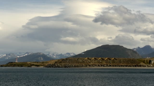 Aircraft taking of as seen from Beagle Channel
