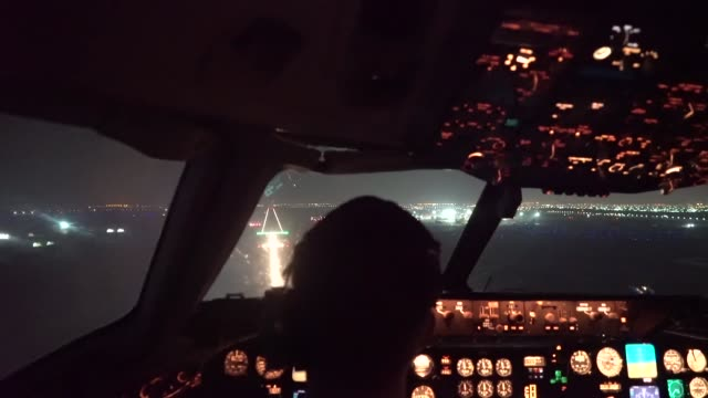 aircrew from 908th expeditionary aerial refueling squadron use a kc10 extender to refuel us f15 strike eagles f35a lightning ii's and french air... - lightning strike stock videos and b-roll footage