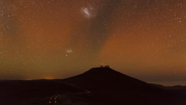 airglow over atacama desert - cerro paranal stock videos and b-roll footage