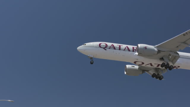 airline carrier - qatar stock videos & royalty-free footage
