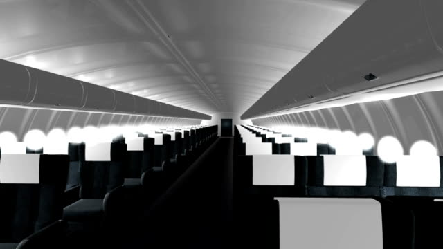 airliner cabin 3d - kupe bildbanksvideor och videomaterial från bakom kulisserna