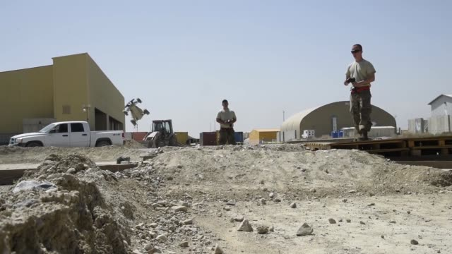 airmen assigned to the 455th expeditionary aircraft maintenance squadron stationed at bagram airfield, afghanistan recently finished building a... - bagram air base stock videos & royalty-free footage