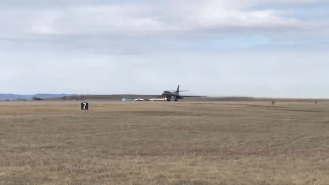 airmen at ellworth air force base receive briefing go though customs and board plane for deployment footage of b1 lancer taxiing and taking off is... - bomber plane stock videos and b-roll footage