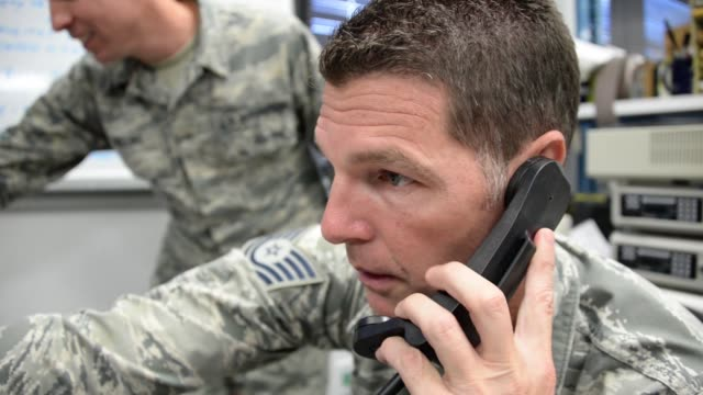 Airmen with Air Refueling Wing Squadron setting up radio communications at Joint Base Pearl HarborHickam Hawaii