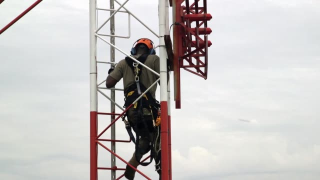 Airmen with Operations Support Squadron maintaining Radar Airfield and Weather Systems at RAF Lakenheath United Kingdom