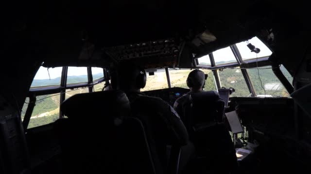 airmen with west virginia air national guard perform tactical approaches unimproved surface landings and departure training with c130 hercules during... - electronic organiser stock videos & royalty-free footage