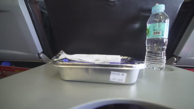 Airplane airline meal point of view
