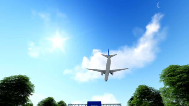 airplane arriving to rennes in france - bretagna video stock e b–roll