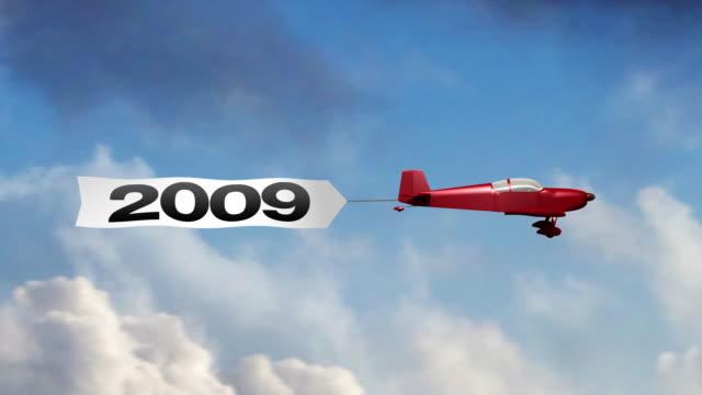 flugzeug-banner 2009 (center - spruchband stock-videos und b-roll-filmmaterial