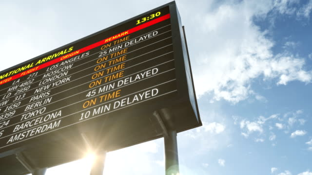 airplane departing - airport billboard - 4k resolution - large scale screen stock videos & royalty-free footage