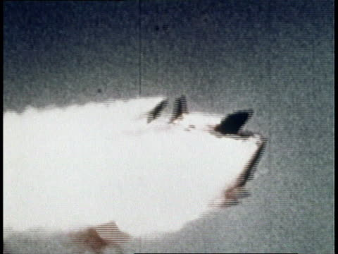 aerial airplane exploding from nike hercules guided missile - 1966 stock videos & royalty-free footage