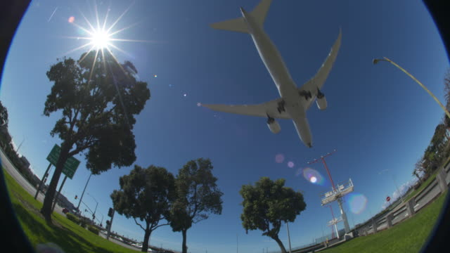 airplane fisheye view - boeing 787 stock videos and b-roll footage