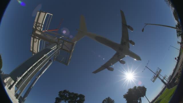 airplane fisheye view - airbus stock-videos und b-roll-filmmaterial