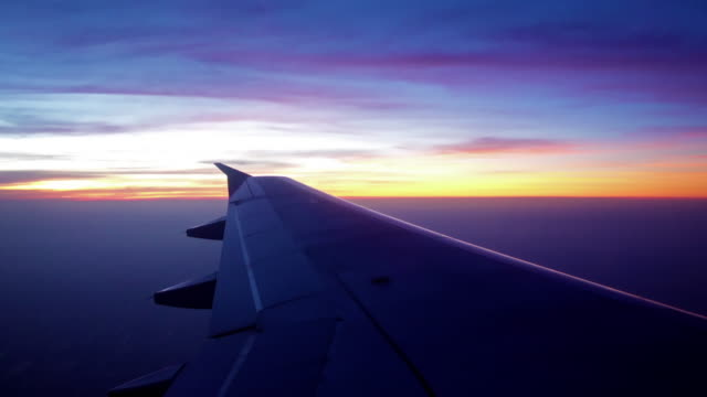 airplane fly on the sky - business travel stock videos & royalty-free footage