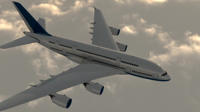 airplane flying above the clouds - commercial aircraft stock videos & royalty-free footage