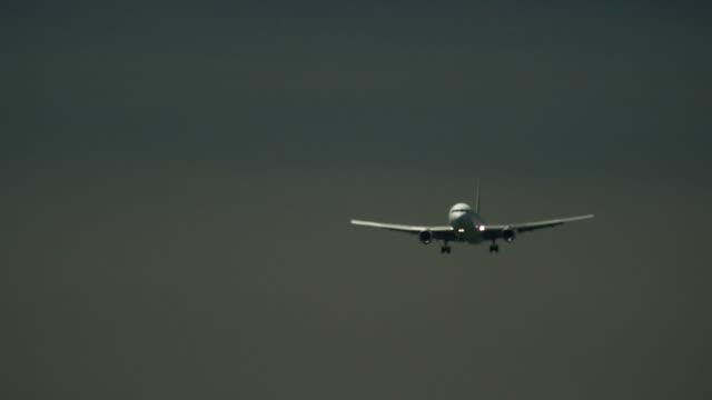 Airplane (A330) Flying in Sky - Focus Rack