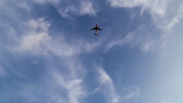 Flugzeug fliegt.