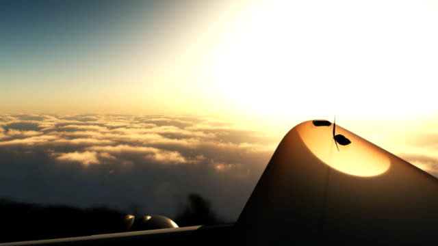 airplane in the clouds - 3d animation stock videos & royalty-free footage