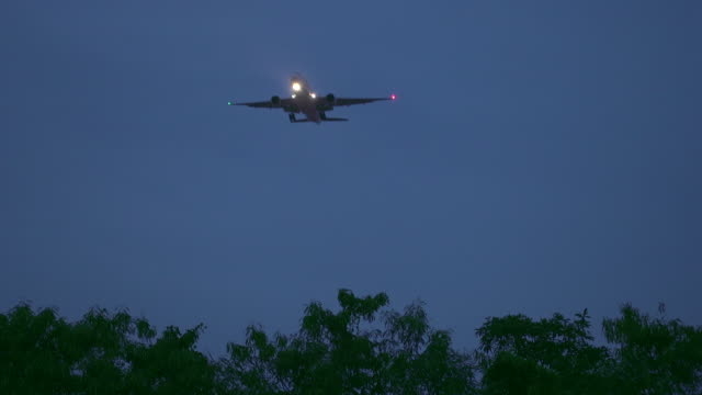 Airplane In Twilight