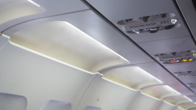 airplane indoors cooling system - air duct stock videos & royalty-free footage