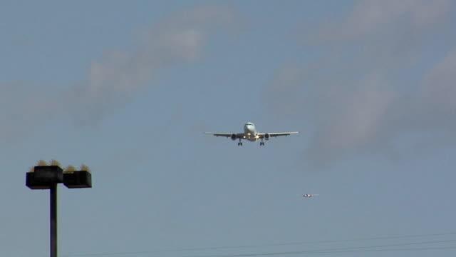 WS LA Airplane landing at LAX, Los Angeles, California, USA