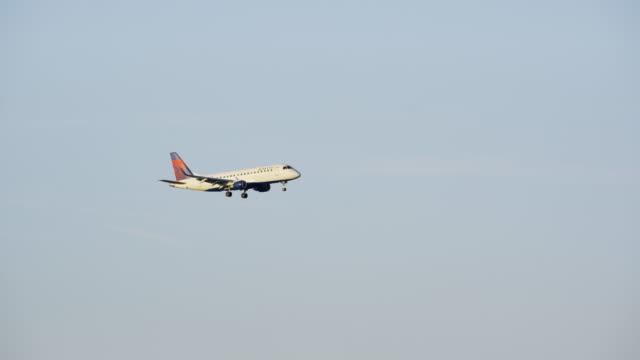 Airplane landing at Ronald Reagan Washington National Airport, DC