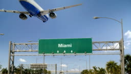 Airplane Landing Miami