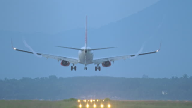 airplane landing. - landing touching down stock videos & royalty-free footage