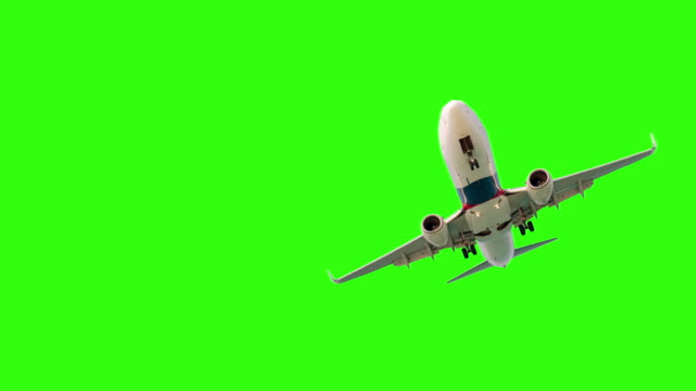 airplane on green screen - plain background stock videos & royalty-free footage