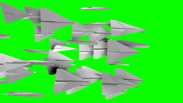 vidéos et rushes de avion origami transition vidéo - origami